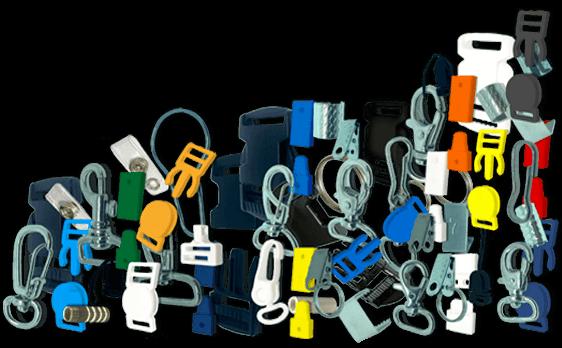 acessórios para cordão para crachá e travas de segurança